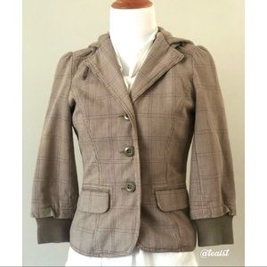 Lux Cropped Hooded Blazer